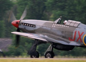 A Hurricane taxis by
