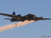 Sally B does the engine fire routine (Nikkor 70-300, 185mm, f/13, 1/160s)