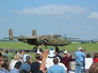 B-25D taxis past
